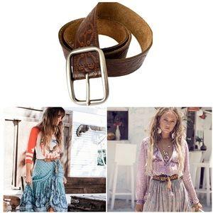 Boho Tooled Leather Belt
